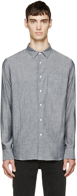 Rag & Bone - Grey Chambray Beach Shirt