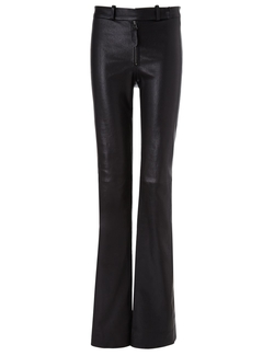 Maiyet - Black Leather High Waisted Trousers