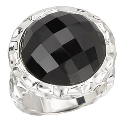 Jewelryimpressions - Sterling Chic Collection Round Black Onyx Ring
