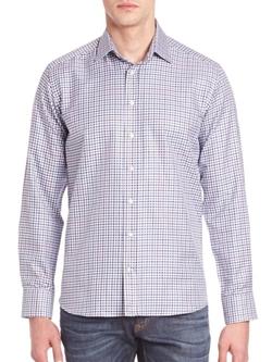 Etro  - Multi-Check Cotton Sportshirt