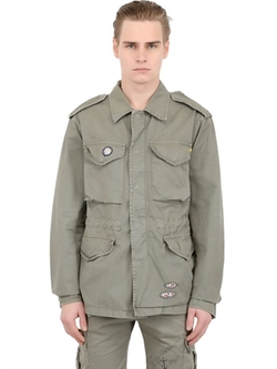 Bob  - Light Cotton Gabardine Military Jacket