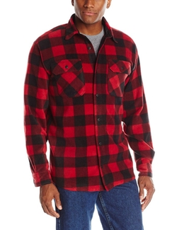 Wrangler Authentics  - Long-Sleeve Plaid Fleece Shirt