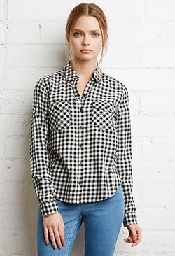 Forever21 - Gingham Plaid Shirt