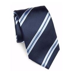 Saks Fifth Avenue Collection - Wide Stripe Silk Tie