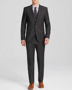 Hugo - Fil-A-Fil Three-Piece Suit - Slim Fit