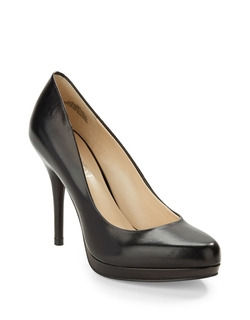 Nine West - Kristal Leather Platform Pumps