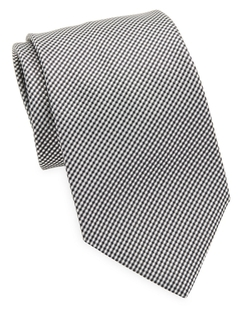 Hugo Boss - Micro-Gingham Silk Tie