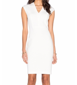 Vince - V-Neck Bib Sheath Dress