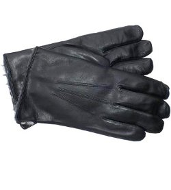 Go Gloves - Chinchilla Fur Lined Leather Gloves