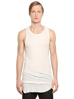 Isabel Benenato  - Light Cotton Jersey Tank Top