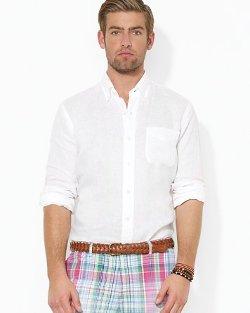 Polo Ralph Lauren  - Linen Mercer Pocket Custom Button Down Shirt