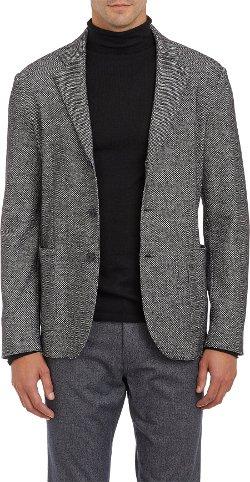 Barneys New York   - Tweed Three Button Sportcoat