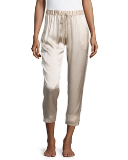 Josie Natori  - Drawstring Silk Lounge Pants