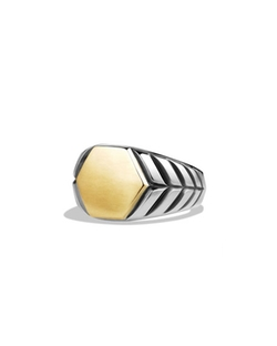 David Yurman - Modern Chevron Signet Ring