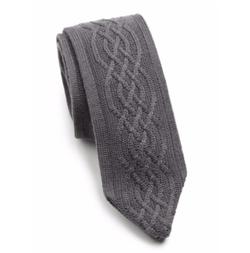 Hook + Albert - Charcoal Cableknit Tie