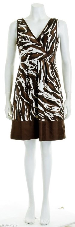 Banana Republic - Animal Print Sleeveless Banded Waist Dress