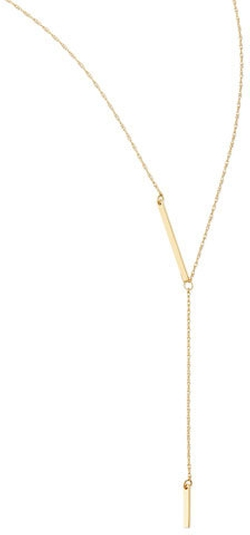 Jennifer Zeuner Jewelry - Vermeil Petra Lariat Necklace