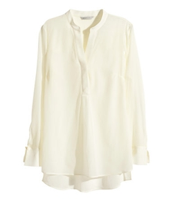 H&M - Long-sleeved Silk Blouse
