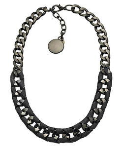 Skinny By Jessica Elliot - Gunmetal Hudson Necklace