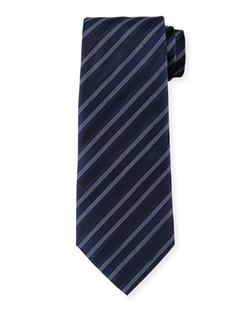 Armani Collezioni  - Multi-Striped Silk Tie