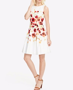 Lauren Ralph Lauren  - Floral-Print Sateen Dress