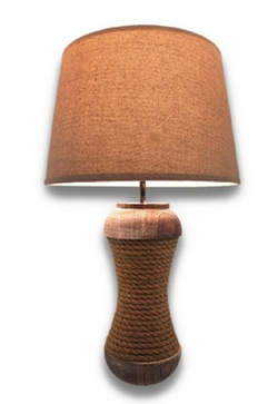 Things2die4 - Distressed Wood Table Lamp