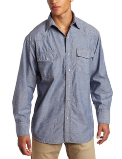 Key Apparel - Chambray Western Snap Shirt
