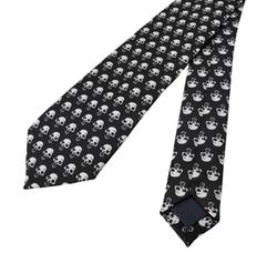 Zeckos -  Gothic Skull Print Necktie