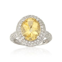 Ross + Simons - Carat Citrine Ring
