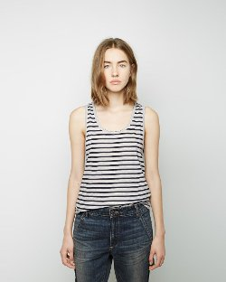 6397   - Striped Old Man Tank Top