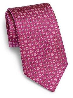 Salvatore Ferragamo  - Gancini Flower Print Tie