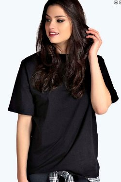 Alicia - Oversized Boxy Rib T Shirt