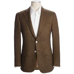 Isaia  - Herringbone Sport Coat - Wool-Cashmere-Silk