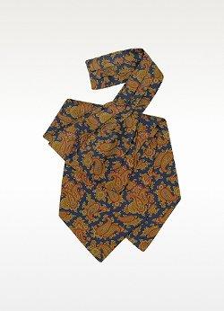 Forzieri - Large Paisley Print Silk Ascot