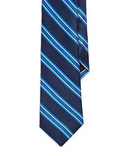 Black Brown 1826 -  Striped Tie
