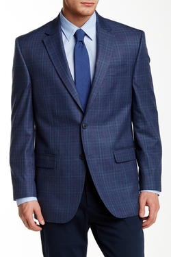Andrew Fezza  - Plaid Two Button Notch Lapel Sport Coat