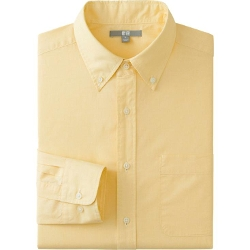Uniqlo - Men Extra Fine Cotton Broadcloth Long Sleeve Shirt