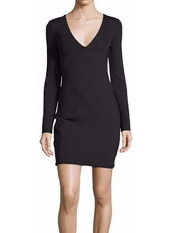 The Row - Myrna Long-Sleeve V-Neck Dress