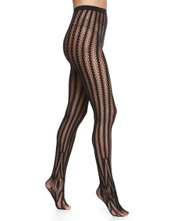 Wolford - Trocadero Vertical-Stripe Tights