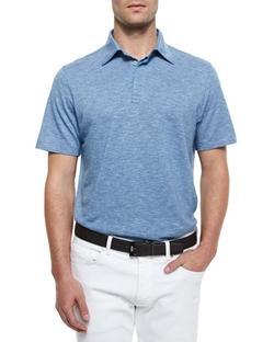 Ermenegildo Zegna  - Spread Collar Polo Shirt