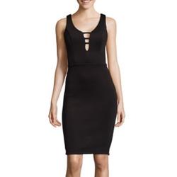 Bisou Bisou -  Sleeveless V-Neck Sheath Dress