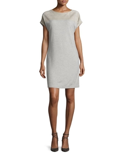 Ralph Lauren Black Label - Cap-Sleeve Combo Shift Dress