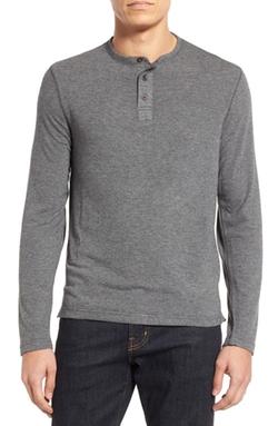 Surfside Supply  - Long Sleeve Henley Shirt