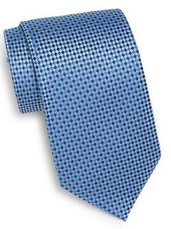 Burma Bibas  - Micro Check Silk Tie