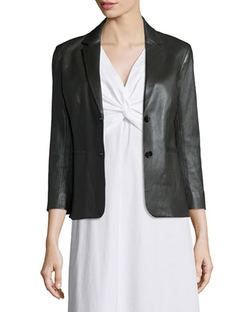 The Row  - Noblan Leather Blazer