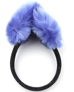 Fashion Lab - Faux Fur Earmuffs w/ Velvet Band