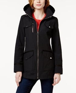 INC International Concepts  - Hooded Tie-Back Anorak Coat