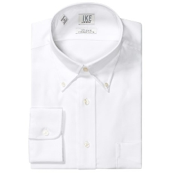 Ike Behar - No-Iron Solid Twill Dress Shirt