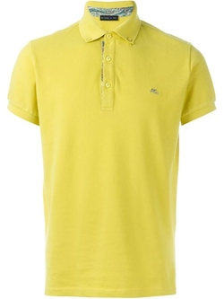 Etro - Embroidered Logo Polo Shirt