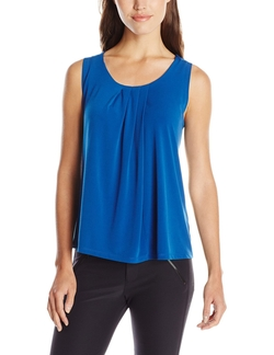 Anne Klein - Solid ITY Pleat Neck Top